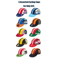 5 Assorted Cycling Caps