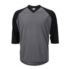 Mens 3/4 Sleeve Mountain Bike Jersey Gray/Black