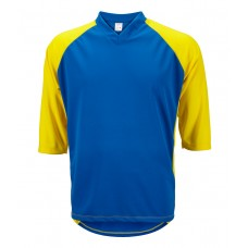 Mens 3/4 Sleeve Mountain Bike Jersey Blue/Yellow