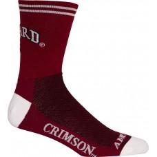 Harvard Cycling Socks Crimson