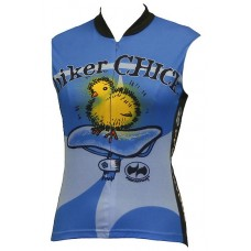 Biker Chick Sleeveless Jersey Blue