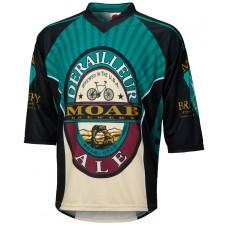 Moab Brewery Derailleur Ale 3/4 Sleeve Mountain Bike Jersey