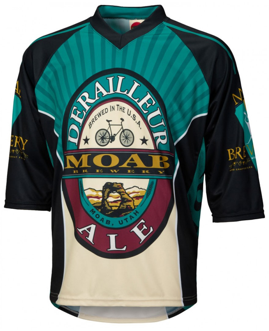 Moab Brewery Derailleur Ale 3 4 Sleeve Mountain Bike Jersey - Men s ... 0e853d754